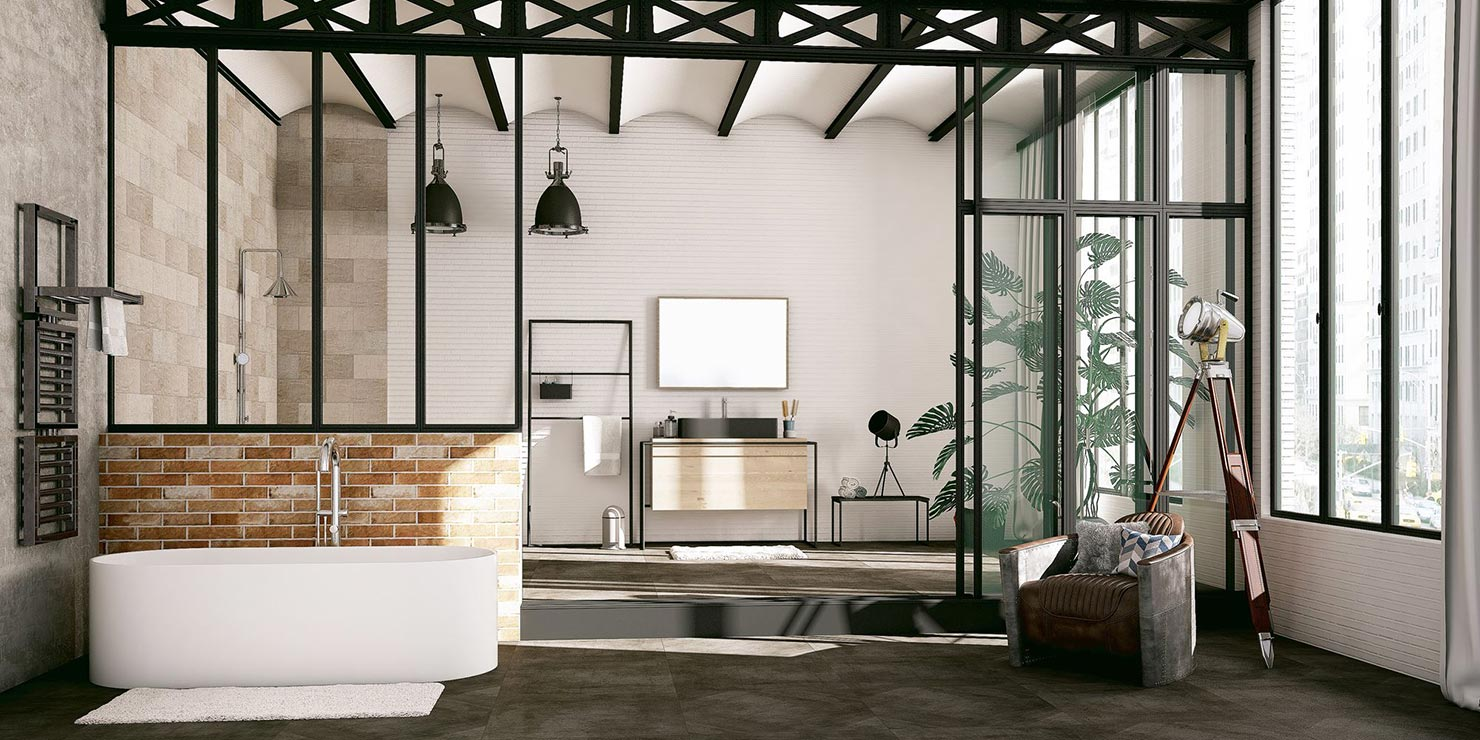 salle de bain industrielle solution