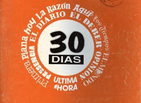 30 Días. Correo hemerográfico. (Julio a diciembre1992)