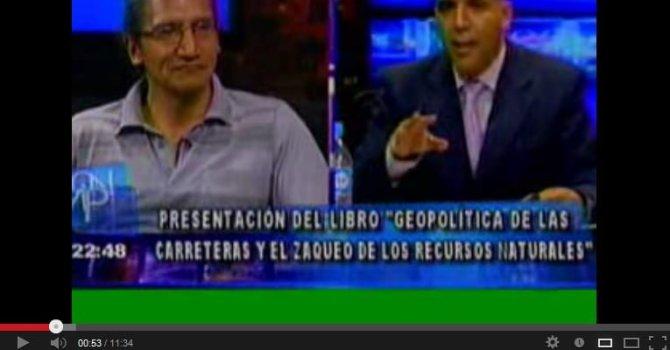 """Entrevista Pablo Villegas sobre """"Geopolítica de las carretras"""" (Red Uno, Que no me pierda, 10.4.13)"""