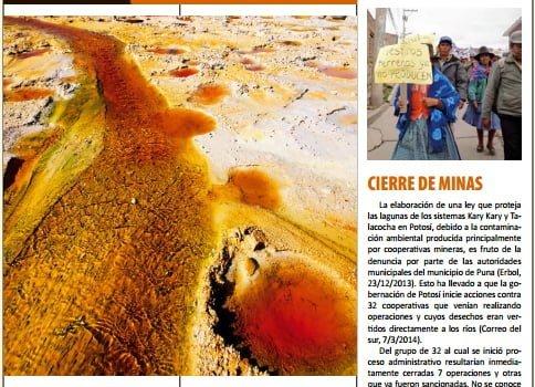 Crónica de conflictos mineros en Bolivia Enero – Junio 2014 (Petropress 33, 10.14)