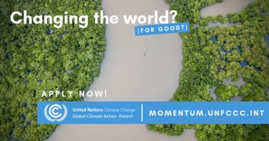 Applications for 2019 UN Global Climate Action Awards Now Open