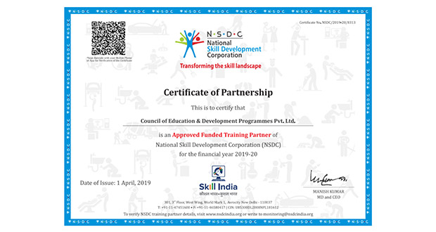 Cedp Skill Development Training And Vocational Courses In India