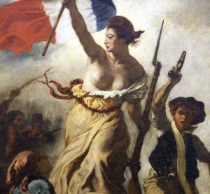 Eugène Delacroix : La liberté guidant le peuple (détail)