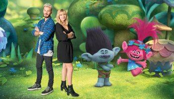 Les Trolls : Matt Pokora, Loaune Emera et Branch et Poppy