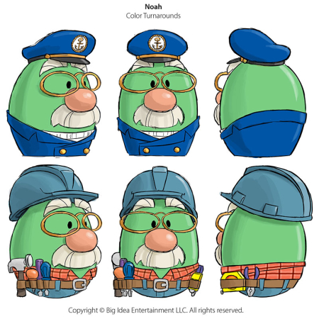 VeggieTales Noah-Costume Turnarounds