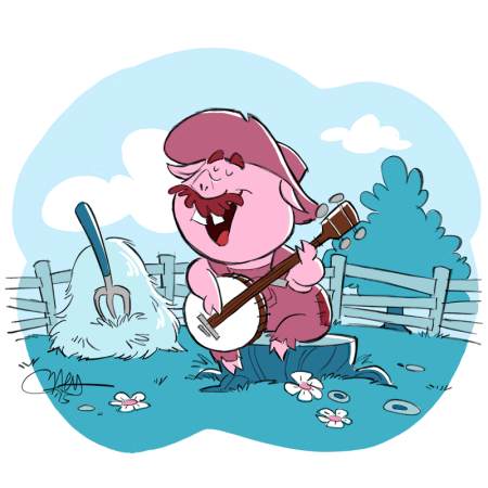 Bluegrass Banjo Pig