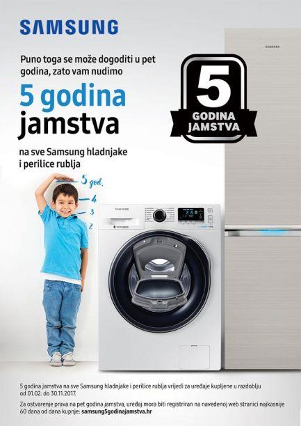 5 godina jamstva na hladnjake i perilice