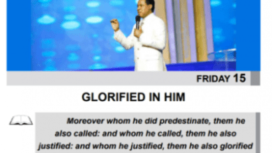 Photo of Rhapsody Of Realities (15th, May 2020) – GLORIFIED IN HIM