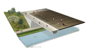 Figure 1: Illustration of one of the Wetland bridges (copyright: LDA Design)