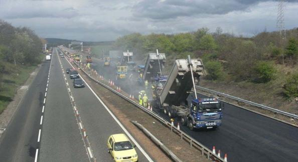 FIFE ITS – ECHELON PAVING (Copyright: Transport Scotland)