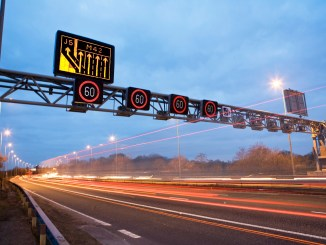 Smart motorway at night (HA1-000995) by Highways England on Flickr
