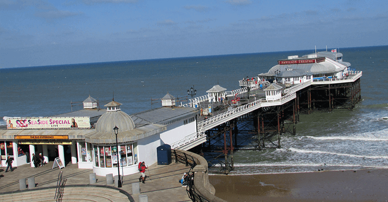 Cromer Pier on a sunny day