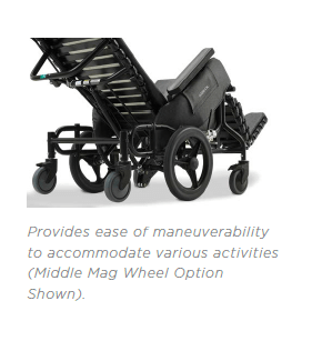 Broda Model 85V Wheelchair side view