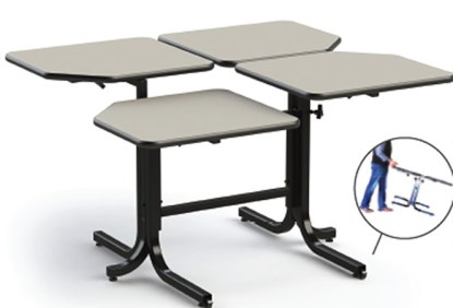 Wheelchair Adjustable table for 4