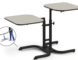 Wheelchair Adjustable table for 2