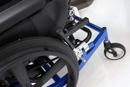"Encore Wheelchair w 5"" Aluminum Caster-Blue"