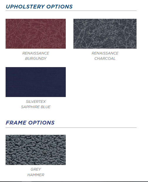 Upholstery colors for Vanguard