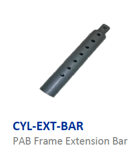 Cylinder extension bar