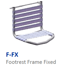 Fixed footrest