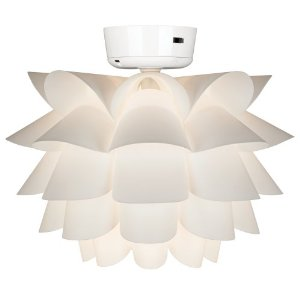 Replacing and changing the bulbs in a ceiling fan light kit   how to White Flower Ceiling Fan Light Kit