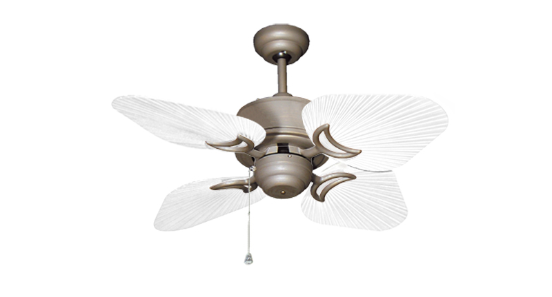 35 inch Bombay Antique Bronze and Pure White Ceiling Fan