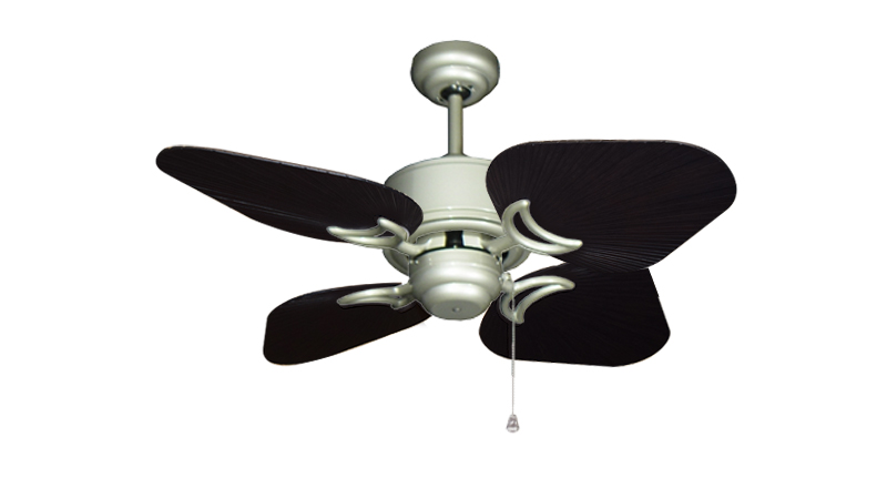 35 inch Bombay Brushed Nickel and Oil Rubbed Bronze Ceiling Fan