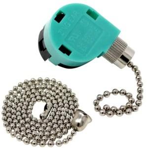 Zing Ear ZE268s6 3 Speed 4 Wire Ceiling Fan Rotary Pull