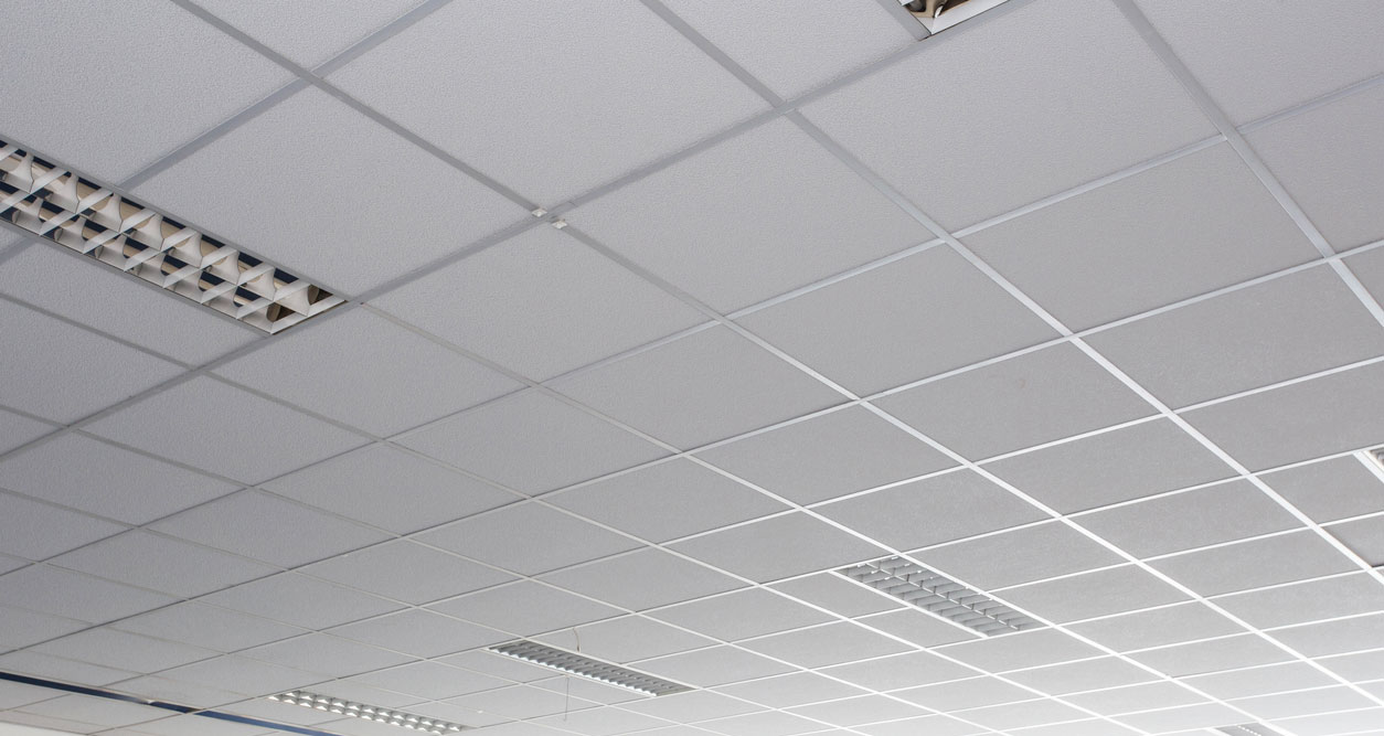 how to cover acoustic ceiling tiles