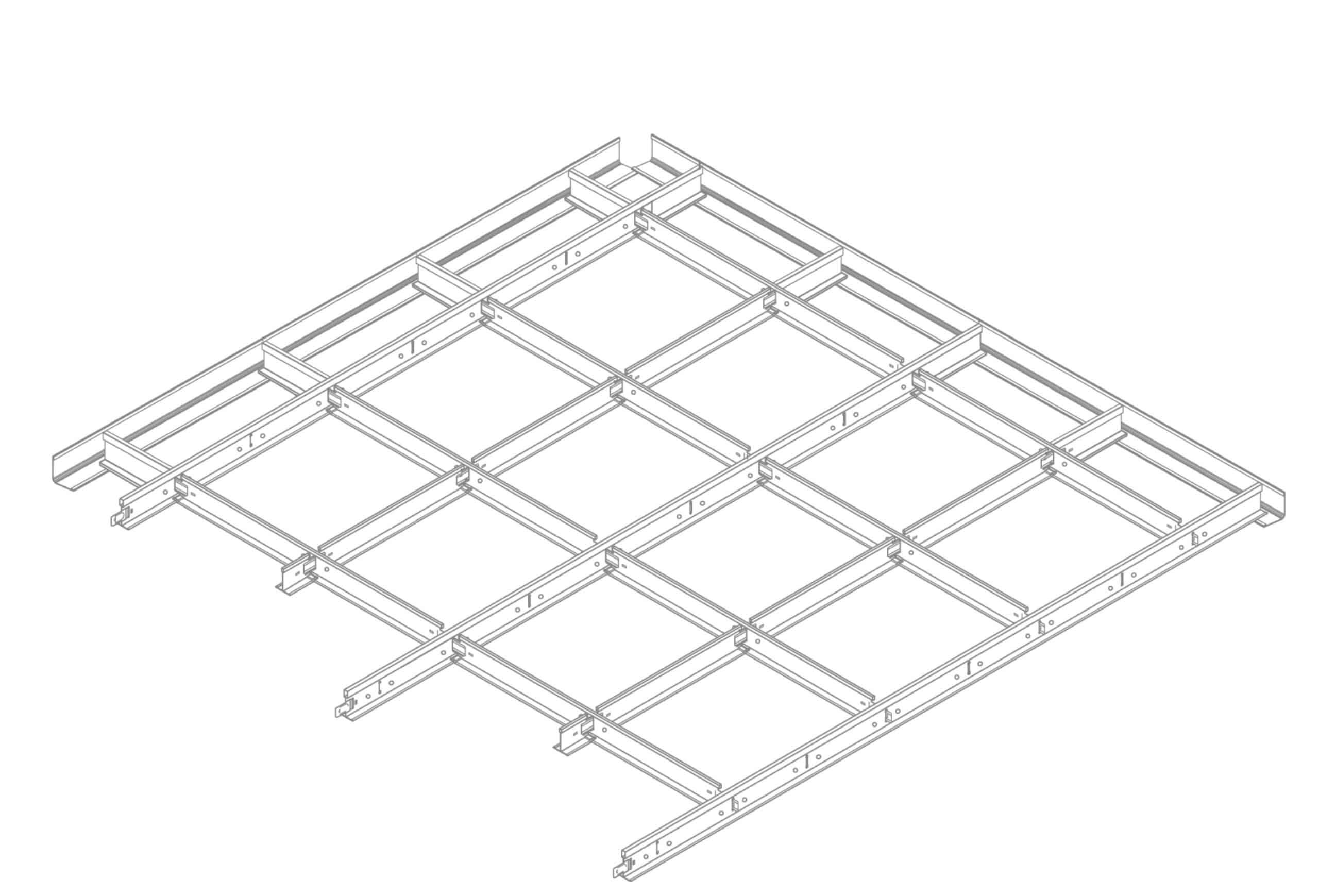 12m2 Suspended Ceiling Gridwork Kit Standard 24mm 600