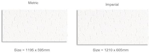 imperial vs metric ceiling tiles