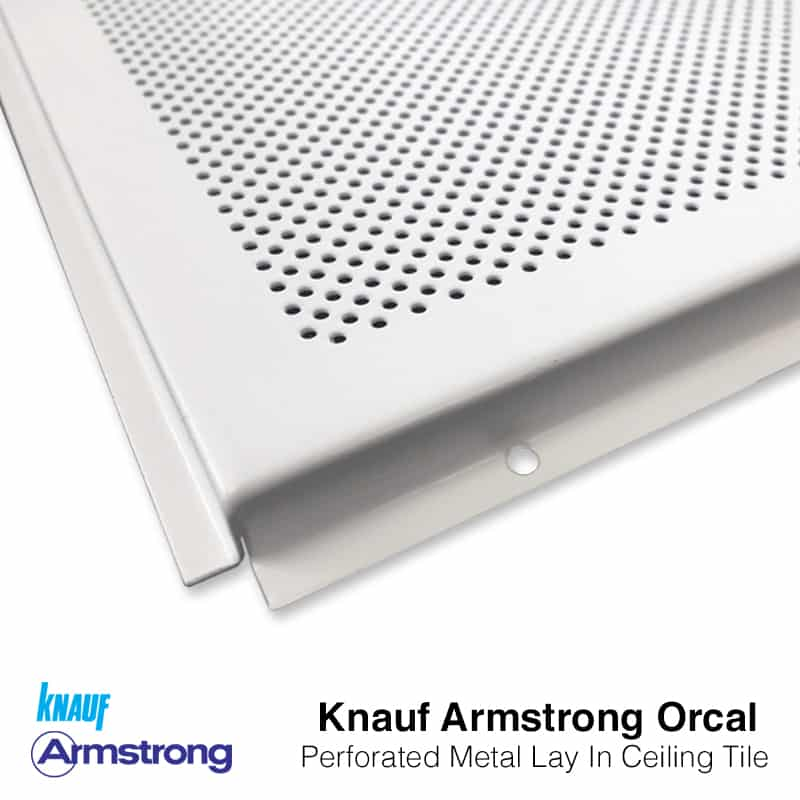 knauf armstrong orcal lay in tegular metal ceiling tiles 600x600mm perf 1522 bp9685m6i2 24mm grid