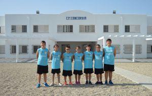 El equipo con la equipación de baloncesto
