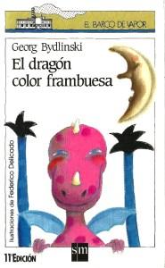 Un dragón color frambuesa