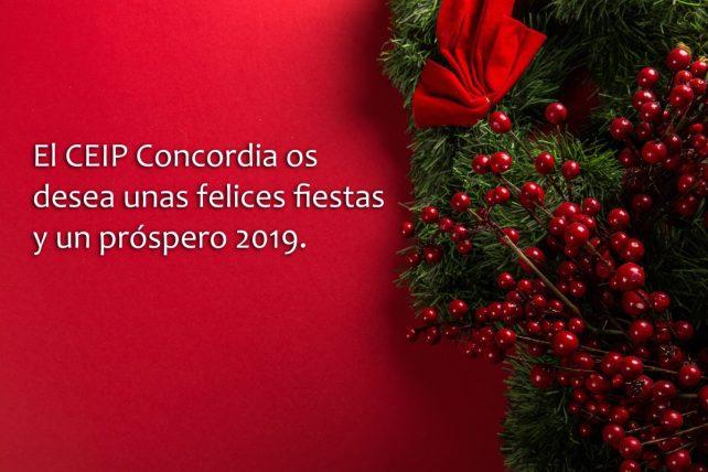 Felicitación del CEIP Concordia de Campohermoso (Almería)
