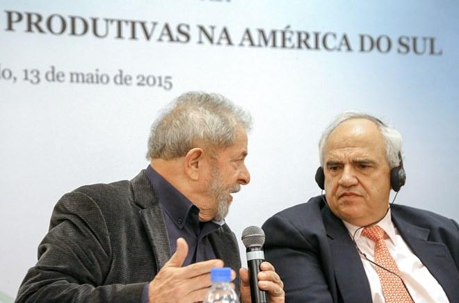 Lula da Silva y Ernesto Samper por la 'Integración de las cadenas productivas en América del Sur'