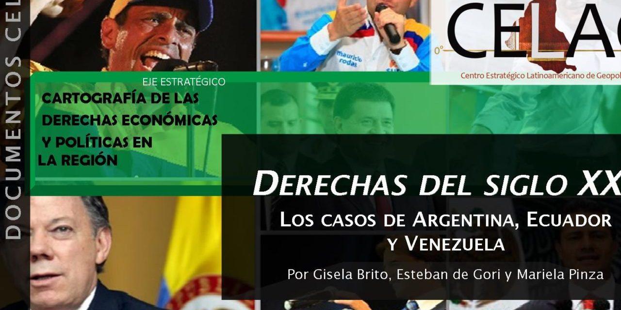 Derechas del siglo XXI. Los casos de Argentina, Ecuador y Venezuela (por Gisela Brito, Esteban de Gori y Mariela Pinza)