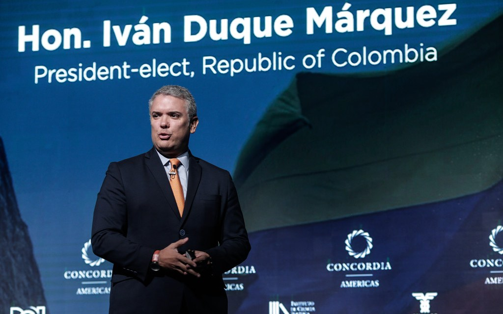 EE.UU. define la agenda: Cumbre de la Concordia en Colombia