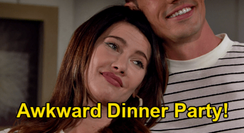 The Bold and the Beautiful Spoilers: Steffy's Awkward Dinner Party - Struggling to win over Finn's mom and dad?
