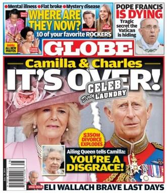 GLOBE: Camilla Parker-Bowles and Prince Charles $350 Million Divorce - Queen Elizabeth Calls Camilla