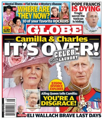 GLOBE: Camilla Parker-Bowles and Prince Charles $350 Million Divorce - Queen Elizabeth Calls Camilla