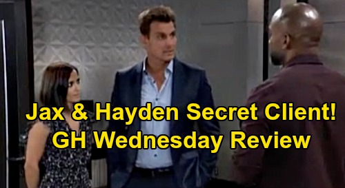 General Hospital Spoilers: Wednesday, September 11 Review - Hayden & Jax Keep Partner Secret - Curtis Assumes It