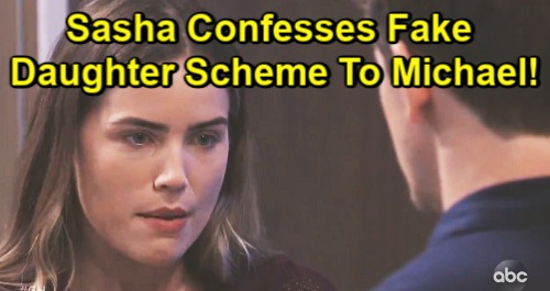 General Hospital Spoilers: Sasha Confesses Fake Daughter Shocker - Michael Reels Over Deception, Faces Agonizing Choices?