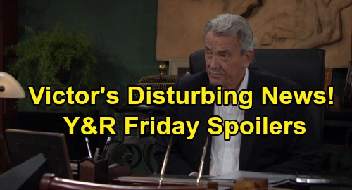 The Young and the Restless Spoilers: Friday, September 13 - Victor