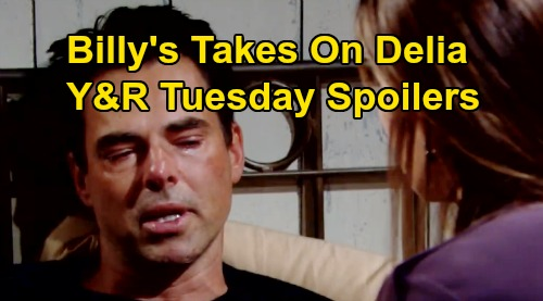 The Young and the Restless Spoilers: Tuesday, September 17 - Billy Tackles Delia Grief - Emotional Trauma Nightmare