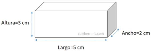Ejemplo fórmula volumen de un cuboide - Celebérrima com