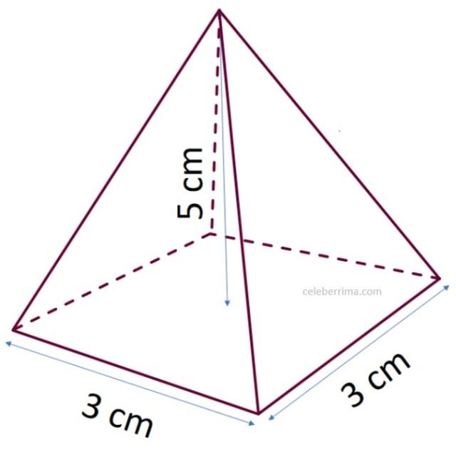 Ejemplo Y Fórmula Volumen De Una Pirámide Base Cuadrangular