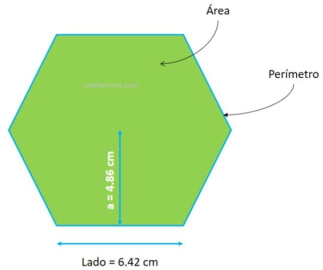 Ejemplo Fórmula área De Un Hexágono Regular Celebérrimacom
