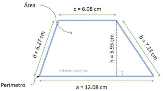 Ejemplo Fórmula área De Un Trapecio Celebérrima Com