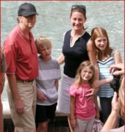 Mr. Bill Gates refreshing and energizing self with family