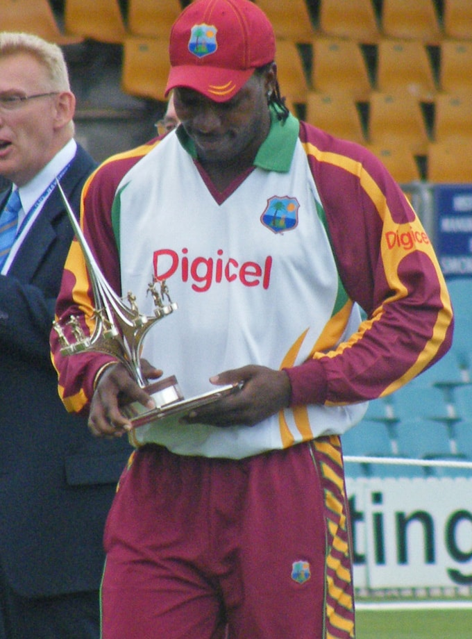 Chris Gayle 2010 Prime Ministers Match